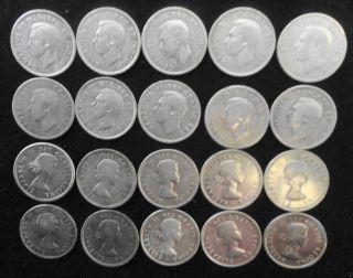 20 Canada Silver Quarters 1940 - 1962 photo
