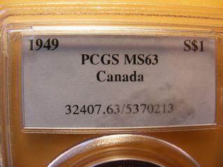 1949 S$1 (special Strike) Canada Dollar,  Ms - 63 photo
