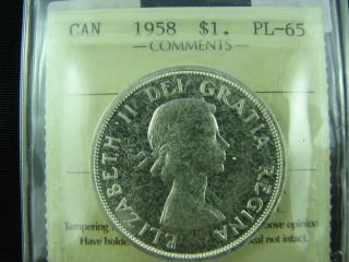1958 Canada Dollar Proof Like Pl65 Cameo photo