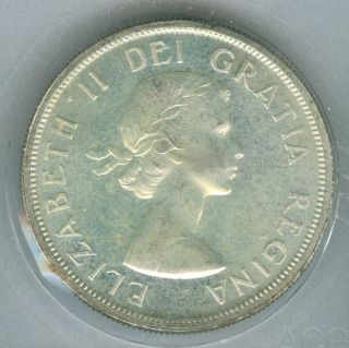 1958 Canada Silver Dollar State Finest Graded. photo
