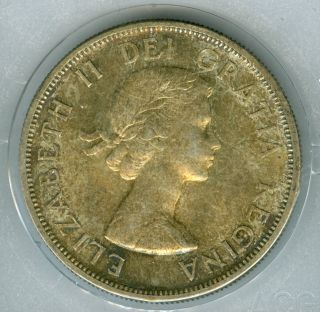 1958 Canada Silver Dollar Toned State Finest Graded. photo