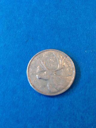 1952 Canada 25 Cent.  80% Silver photo