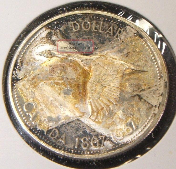 Rare 1967 Canadian 1 Dollar Coin Bu Silver Canada