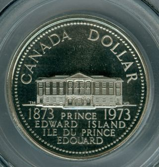 1973 P.  E.  I.  Canada Dollar Pcgs Pl68 Heavy Cameo Finest Known photo