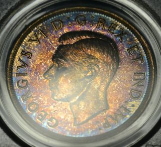 1937 Matte Dollar ($1) Pcgs Sp - 66 Pq+ Rainbow Toning - Wow photo