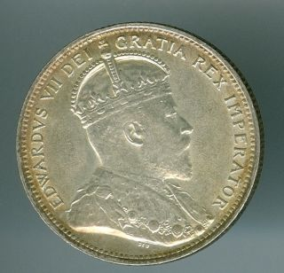 1902 - H Canada 25 Cents Mid State Grade Light Toning Rare. photo