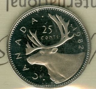 1982 Canada 25 Cents Proof Ultra Heavy Cameo Finest Graded Rare. photo