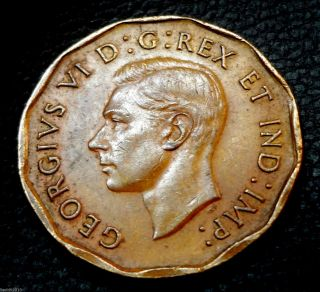 Canada,  1942 5 Cents George Vi Dodecagonal,  Tombac (a Type Of Brass) Coin photo