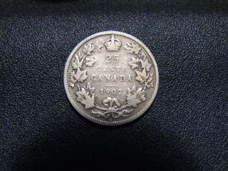 Canada 1902 H Silver Quarter In Great Collectable Grade photo