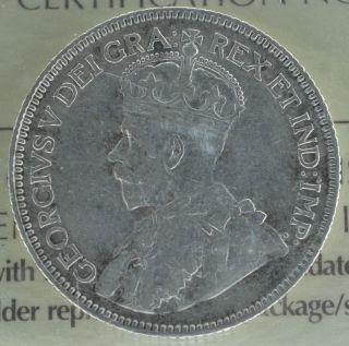 1936 Canadian Silver Quarter