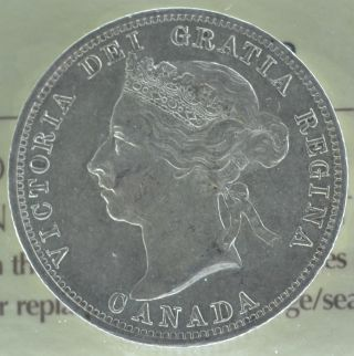 1900 Canadian Silver Quarter - Iccs Graded - Ef - 40 - photo