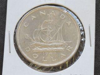 1949 Canada Silver Dollar Georgivs Vi Canadian A7078 photo