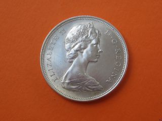 Stunning 1966 Canadian Siver Dollar Coin Item 1245a photo