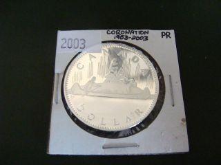 1953 - 2003 Canada Silver Dollar Coronation Edition Proof - Silver photo