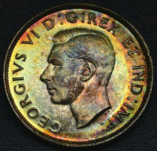 1946 Dollar ($1) Iccs Ms - 63 Pq+ Rainbow Toning Wow photo