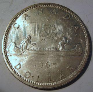 1965 Silver Canadian Dollar Coin (324b) photo