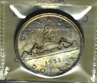 1953 Nsf Dollar ($1) Iccs Ms - 65 Pq+ Multi Color Toning photo