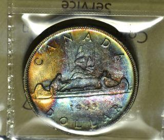1953 Swl Nsf Dollar ($1) Iccs Ms - 65+ Pq Rainbow Toning Wow photo