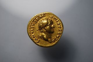 Titus,  As Caesar 69 - 79 Ad.  (av 7.  30g 19mm 6h) Rome Gvf photo