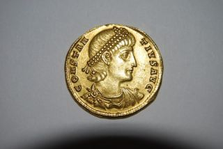 Constantius Ii,  337 - 361 Ad (av Solidus 4.  53g 22mm) Antioch Choice Ef photo