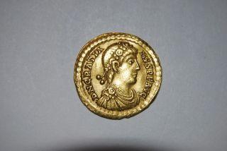 Gratian,  367 - 383 Ad (av 4.  49g 21mm) Treveri Gratian/valentinian Gvf photo