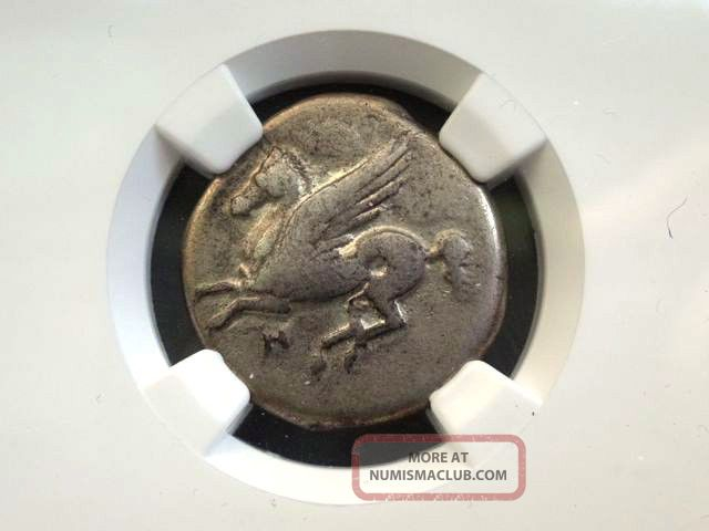 Greek Coin Acarnania Anactorium Ar Stater Ngc Graded Vf Athena Pegasus 350 - 300bc Coins: Ancient photo