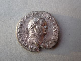Vespasianus Silver Denarius,  Eagle Reverse (69 - 79ad) photo