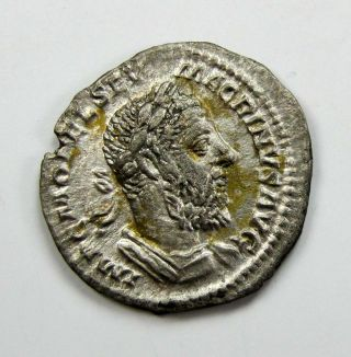 Macrinus 217 - 218 Silver Denarius Rs:salus Publica 2.  45g/18mm Very Rare M - 709 photo
