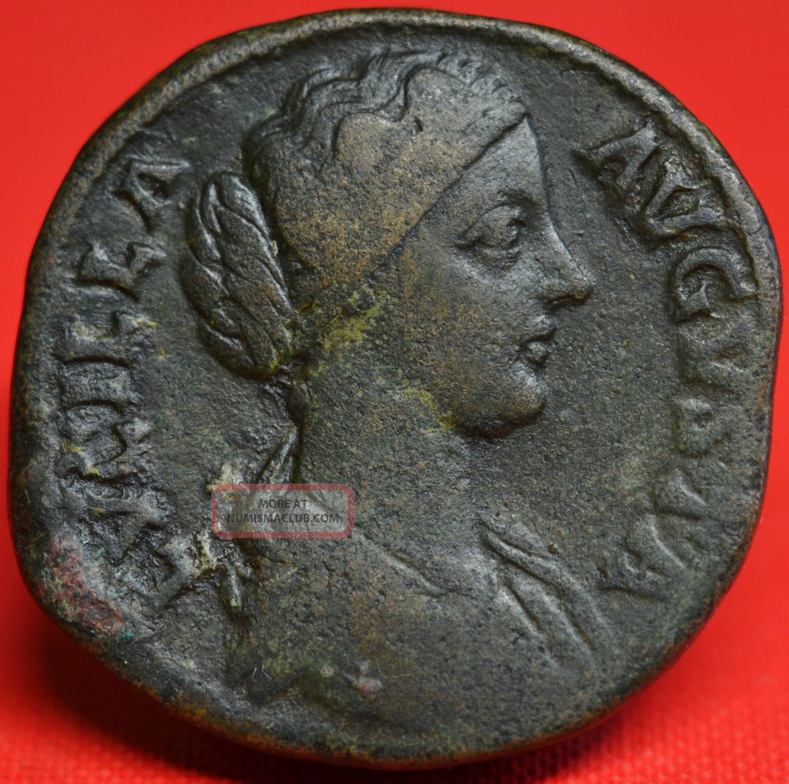Lucilla,  Scarce Sestertius: Pietas.  Portrait Ad 164 - 6.  Vf. Coins: Ancient photo