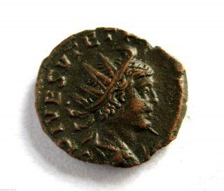 274 A.  D Gallic Empire Emperor Tetricus Ii Roman Period Billon Antoninus Coin.  Vf photo