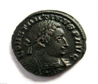 307 A.  D British Found Constantine I Roman Bronze Follis Coin.  London.  Hoard Coin photo