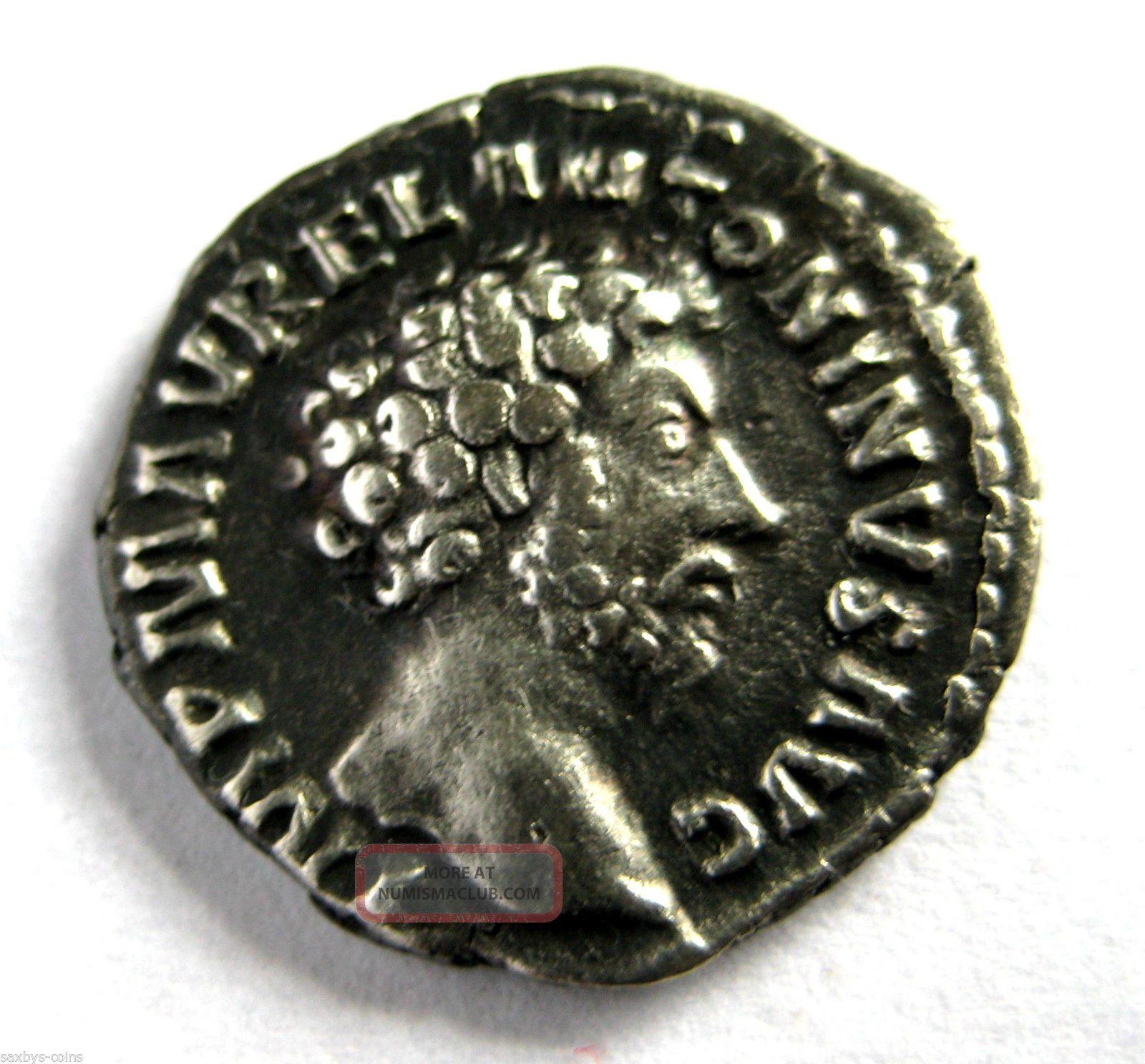 Scarce Issue C.  145 A.  D Marcus Aurelius Roman Imperial Ar Silver Denarius Coin Coins: Ancient photo