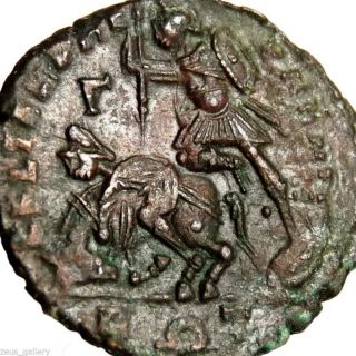 Constantius Ii Constantine The Great Soldier Fallen Barbarian Ancient Roman Coin photo