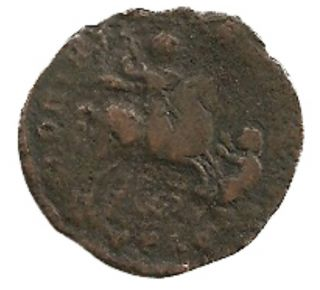 Ng Ancient Roman Bronze Centenionalis Barbarian Coin Emperor Magnentius - 350 Ad photo