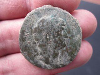 Ancient Authentic Hadrianus Ae Sestertius 130 - 138ad Bronze Coin photo