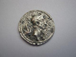 Roman Denarius,  Coin - Portrait,  (rare) Of Julius Caesar,  44 B.  C. photo