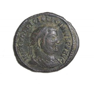 Licinius I 308 - 324 Ad Ae Follis Cyzicus Ancient Roman Bronze Coin Ric.  35 photo