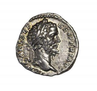 Septimius Severus 193 - 211 Ad Ar Denarius Rome Ancient Roman Coin Ric.  24 photo