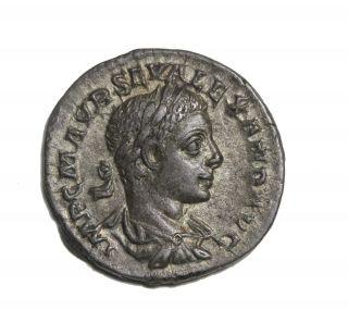 Severus Alexander 222 - 235 Ad Ar Denarius Rome Ancient Roman Coin Ric.  165 photo