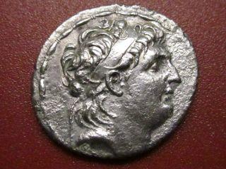 Greek Syria Antioch Silver Tetradrachm Antiochus Vii Euergetes Athena (92mp) photo
