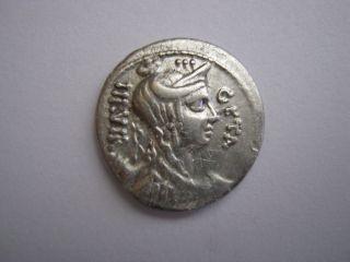 Roman Republic Denarius Of Family Hosidia,  64 B.  C. . photo
