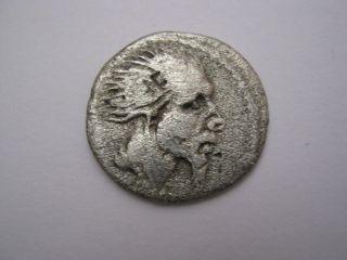 Roman Republic Denarius Of Family Hostilia,  170 B.  C. . photo
