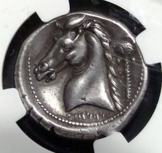 Sicily,  Siculo - Punic,  Entella Silver Ar Tetradrachm Ca.  300 Bc.  Ngc Ch Vf photo