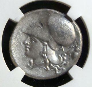 Corinthia,  Corinth: 345 - 307 Bc.  Ar Stater,  Pegasus / Athena & Bee,  Ngc Vf photo