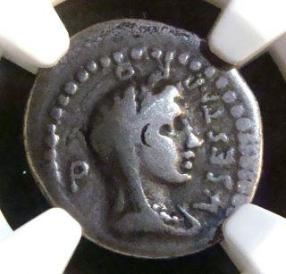 Roman Republic: Brutus,  C.  43 - 42 Bc,  Ar Denarius,  Caesar Assassin Ngc Vg.  Rare photo