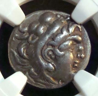 Celtic Coinage: Lower Danube:style Of Alexander The Great,  Ar Drachm,  Ngc Ch Vf photo