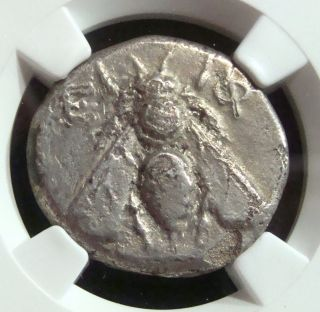 Ancient Greek: Ionia,  Ephesus,  Silver Ar Tetradrachm.  4th Cent Bc.  Ngc Vf photo