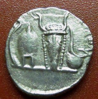 Emperor Caracalla Caesar Denarius Lituus Bucranium (jk4) photo
