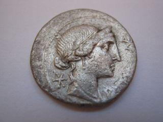 Rare Stamp (mark) Of Roman Denarius - Anonymous,  Approx.  150 - 100 B.  C. photo