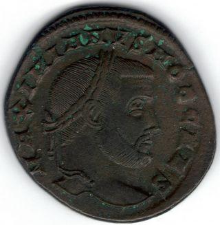 Tmm 305 - 08 Ad Imperial Roman Follis Maximinius Ii Vf Approx 24 - 26 Mm photo